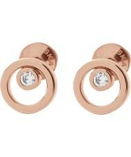 Skagen SKJ0853791 Elin damas de oro rosa pendientes plateados
