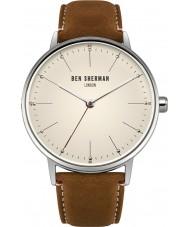 Ben Sherman WB009T Mens portobello tocar reloj de la correa de cuero marrón