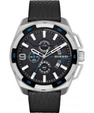 Diesel DZ4392 Para hombre reloj cronógrafo de cuero negro de peso pesado