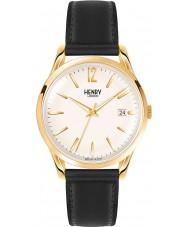 Henry London HL39-S-0010 reloj negro de Westminster champán pálido