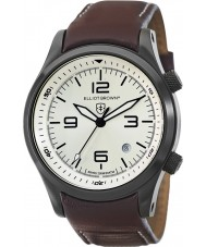 Elliot Brown 202-009-L05 Mens CANFORD reloj marrón correa de cuero
