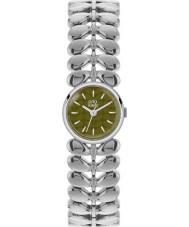 Orla Kiely OK4011 Las señoras de laurel de plata mate de oliva reloj de acero de tono