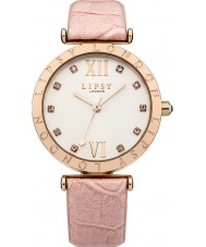 Lipsy LP312 Rosa de las señoras reloj de la correa de cuero