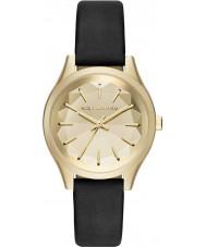 Karl Lagerfeld KL1617 Señoras del reloj de la correa de cuero negro Belleville