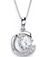 Purity 925 PUR1475P Lujo de las señoras collar de plata esterlina con CZ