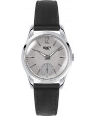 Henry London HL30-US-0073 reloj negro de rayado gris de las señoras Piccadilly