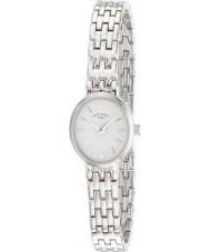 Rotary LB02083-02 Relojes de reloj de plata blanco