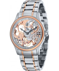 Thomas Earnshaw ES-8049-33 reloj esquelético mecánico de acero de dos tonos para hombre Bauer
