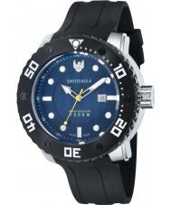 Swiss Eagle SE-9073-0B El abismo los hombres de silicona moldeado reloj encargo de la banda negro