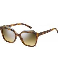 Marc Jacobs Damas marc 106-s n36 gg Habana gafas de sol de espejo de plata
