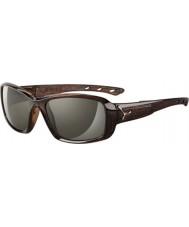 Cebe S-beso brillantes gafas de sol de la sabana de color marrón