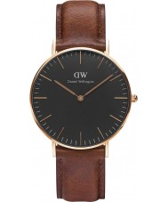 Daniel Wellington DW00100136 Reloj clásico varones de 36 mm negro st