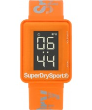 Superdry SYG204O Mens sprint de Digi reloj correa de silicona de color naranja