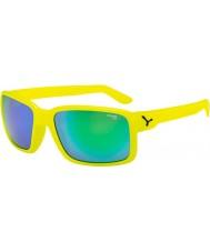 Cebe neón tipo amarillo gafas de sol verdes