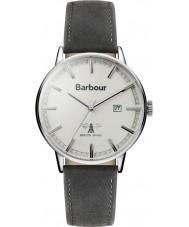 Barbour BB043WHGY Mens WHITBURN reloj de la correa de cuero gris