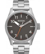 Nixon A974-131 Para hombre del safari de acero de plata reloj pulsera