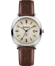 Barbour BB018SLBR reloj de la correa de cuero marrón para hombre del faro