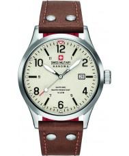 Swiss Military 6-4280-04-002-05 Reloj para hombre de la correa de cuero marrón encubierto
