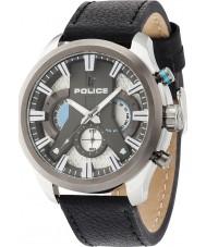 Police 14639JSTU-04 ciclón para hombre de cuero negro reloj de la correa