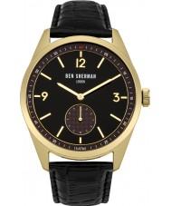 Ben Sherman WB052BG carnaby controlador de cuero para hombre negro reloj de la correa