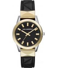 Karl Lagerfeld KL3802 Labelle espárrago reloj negro