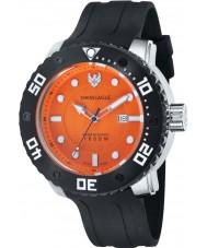 Swiss Eagle SE-9073-0C El abismo los hombres de silicona moldeado reloj encargo de la banda negro