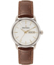 Dreyfuss and Co DGS00125-02 Reloj para hombre de la correa de grano del croco marrón