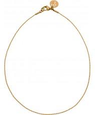 Edblad 31630142 Damas charmentity ballchain chapado en oro cadena larga
