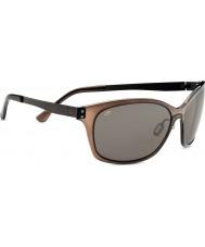 Serengeti Sara satén gafas de sol polarizadas CpG phd de color marrón oscuro