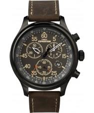 Timex T49905 Para hombre reloj cronógrafo campo expedición marrón negro
