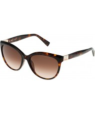 Furla Damas Zizi su4896s-743 gafas de sol brillante habano marrón amarillo