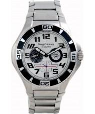 Krug-Baumen 140501KM reloj de acero negro de plata de vanguardia