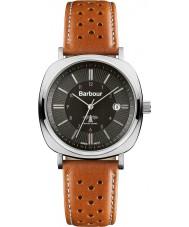 Barbour BB018SLTN reloj de la correa de cuero marrón para hombre del faro