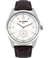 Ben Sherman WB052BR Reloj para hombre de la correa de cuero marrón controlador carnaby