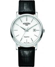 Roamer 709856-41-25-07 Reloj para hombre de la correa de cuero negro línea clásica