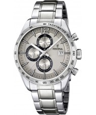 Festina F16759-2 Para hombre reloj pulsera cronógrafo de acero de plata