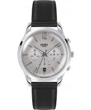 Henry London HL39-CS-0077 reloj cronógrafo negro gris rayado cruzado Piccadilly