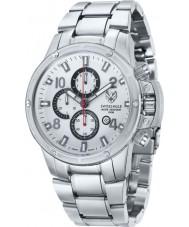 Swiss Eagle SE-9074-11 Hombres Tramelan reloj cronógrafo de acero de plata 316L grado marino sólida