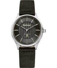 Barbour BB021SLBK Mens glysdale reloj correa de tela negro