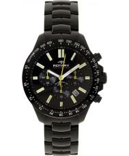 Rotary AGB00085-C-04 Para hombre reloj cronógrafo negro AQUASPEED