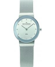 Skagen 358SSSD Damas klassik reloj de malla de plata cromo