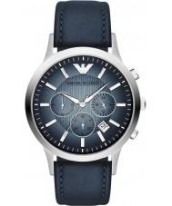 Emporio Armani AR2473 Reloj para hombre azul de plata clásico cronógrafo