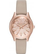 Karl Lagerfeld KL1619 Señoras del reloj de la correa de cuero tan Belleville