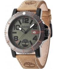 Timberland 14479JSBU-19 reloj de la correa de cuero marrón para hombre de la luz hyland