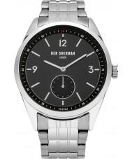 Ben Sherman WB052BSM Reloj para hombre pulsera de acero de plata conductor carnaby