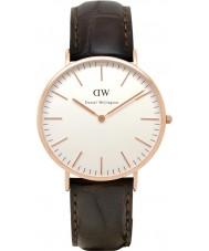Daniel Wellington DW00100011 Mens clásico 40mm York subió reloj de oro