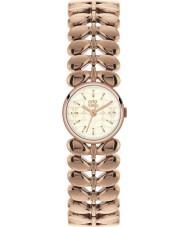Orla Kiely OK4020 Señoras de laurel de oro rosa reloj plateado