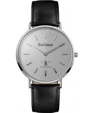 Barbour BB055SLBK reloj de la correa de cuero negro Hartley