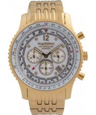 Krug-Baumen 600101DS reloj de diamantes viajero aéreo para hombre