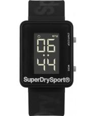 Superdry SYG204B Mens sprint de Digi reloj correa de silicona negro